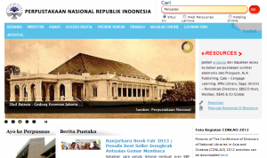 Web Perpustakaan Nasional Republik Indonesia